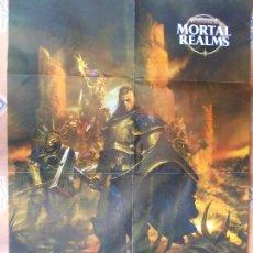 Juegos Antiguos: POSTER MORTAL REALMS ERA SIGMAR 88X57. Lote 199194026