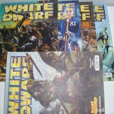 Juegos Antiguos: LOTE WARHAMMER ANTIGUA REVISTA WHITE DWARF GAMES WORKSHOP NUMEROS 81 82 84 88 2002. Lote 200376070