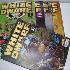 Juegos Antiguos: LOTE WARHAMMER ANTIGUA REVISTA WHITE DWARF GAMES WORKSHOP NUMEROS 92 93 97 98 99. Lote 200376325