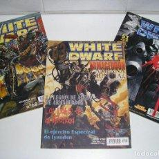 Juegos Antiguos: LOTE WARHAMMER ANTIGUA REVISTA WHITE DWARF GAMES WORKSHOP NUMEROS 51 63 68 AÑO 2000. Lote 200376562