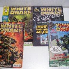 Juegos Antiguos: LOTE WARHAMMER ANTIGUA REVISTA WHITE DWARF GAMES WORKSHOP NUMEROS 27 1997 39 42 46 . Lote 200376850