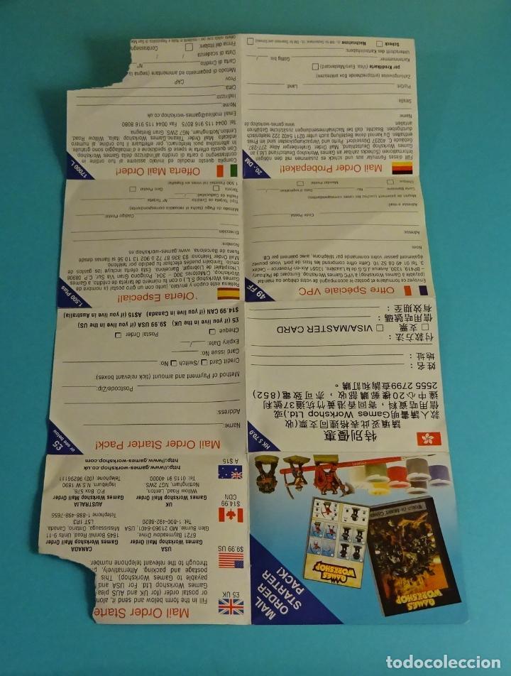 Juegos Antiguos: CUPÓN PEDIDO OFERTA ESPECIAL GAMES WORKSHOP - Foto 2 - 204014241