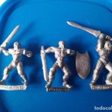 Juegos Antiguos: 3 MINIATURAS DE METAL (HARLEQUIN) - WARHAMMER RAL PARTHA HEROQUEST GUERREROS. Lote 205329920