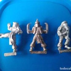 Juegos Antiguos: 3 MINIATURAS DE METAL (HARLEQUIN) - WARHAMMER RAL PARTHA HEROQUEST ASESINOS ARABES. Lote 205329961