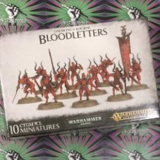 Juegos Antiguos: WARHAMMER DAEMONS OF KHORNE BLOODLETTERS AGE OF SIGMAR. Lote 205445421