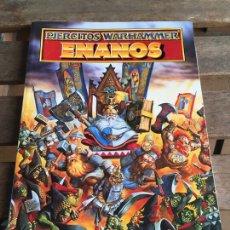 Jogos Antigos: LIBRO WARHAMMER EJÉRCITO ENANOS. GAMES WORKSHOP 1995. MUY BUEN ESTADO.. Lote 205608717