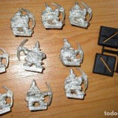 Juegos Antiguos: WARHAMMER 10 FIGURAS METAL ENANOS MINEROS DWARF MARAUDERS MINERS. Lote 53091965