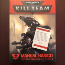 Juegos Antiguos: MANUAL KILL TEAM + CARTAS. Lote 206922536