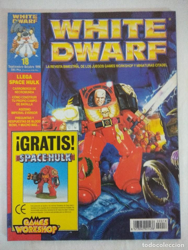 REVISTA WARHAMMER/WHITE DWARF-GAMES WORKSHOP Nº18/RECORTABLE SPACE HULK. (Juguetes - Rol y Estrategia - Warhammer)