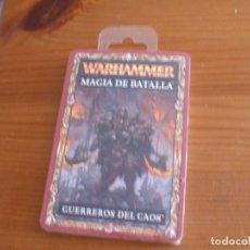 Jogos Antigos: WARHAMMER (OLDHAMMER): MAGIA DE BATALLA MAZO CARTAS GUERREROS CAOS PRECINTADO. Lote 211580911