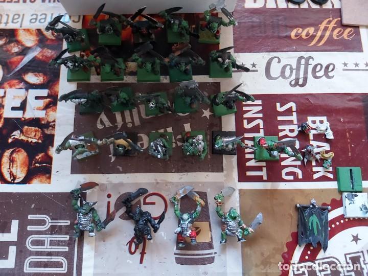 Juegos Antiguos: 25 Guerreros orcos - Warhammer fantasy oldhammer - Foto 3 - 213612638