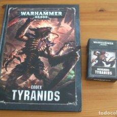 Jogos Antigos: WARHAMMER 40K: CODEX TYRANIDS + MAZO CARTAS (OCTAVA EDICION). Lote 214459620