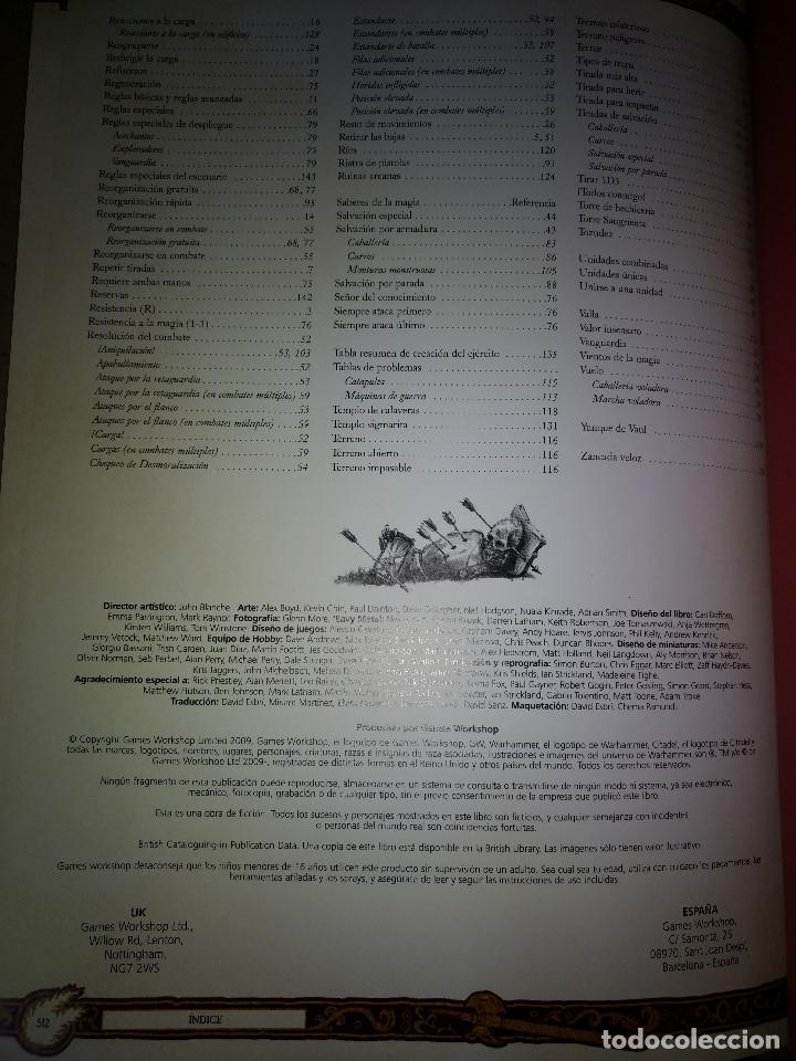 Juegos Antiguos: TOMO TAPA DURA WARHAMMER juego batallas fantasticas - GAMES WORKSHOP - 504 pag. AÑO 2009 - Foto 4 - 215795330