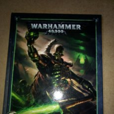 Juegos Antiguos: TOMO TAPA DURA WARHAMMER 40.000 CODEX NECRONS - GAMES WORKSHOP - TOMO 72 PAGINAS. Lote 215796972