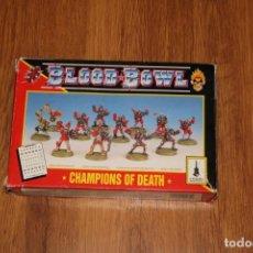 Juegos Antiguos: CAJA EQUIPO BLOOD BOWL METAL NO MUERTOS CHAMPIONS DEATH 1994 GAMES WORKSHOP CITADEL UNDEAD. Lote 215963366