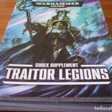 Juegos Antiguos: WARHAMMER 40K: CODEX TRAITORS LEGIONS SEPTIMA EDICION. Lote 215965136