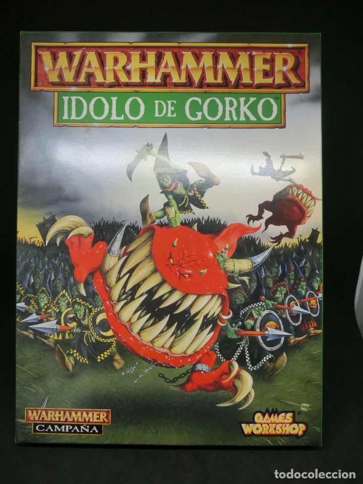ÍDOLO DE GORKO, ORCOS Y GOBLINS - IMPERIO, CAMPAÑA WARHAMMER. OLDHAMMER. (Juguetes - Rol y Estrategia - Warhammer)
