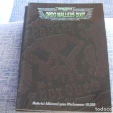 Juegos Antiguos: WARHAMMER 40K: LIBRO ORDO MALLEUS DIXIT I EN CASTELLANO. Lote 217573610