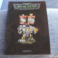 Juegos Antiguos: WARHAMMER 40K: LIBRO ORDO MALLEUS DIXIT II EN CASTELLANO. Lote 217573656