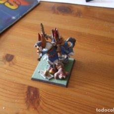 Juegos Antiguos: WARHAMMER FANTASY (OLDHAMMER): HEROE A CABALLO DE PLOMO EJERCITO ALTOS ELFOS. Lote 218243733