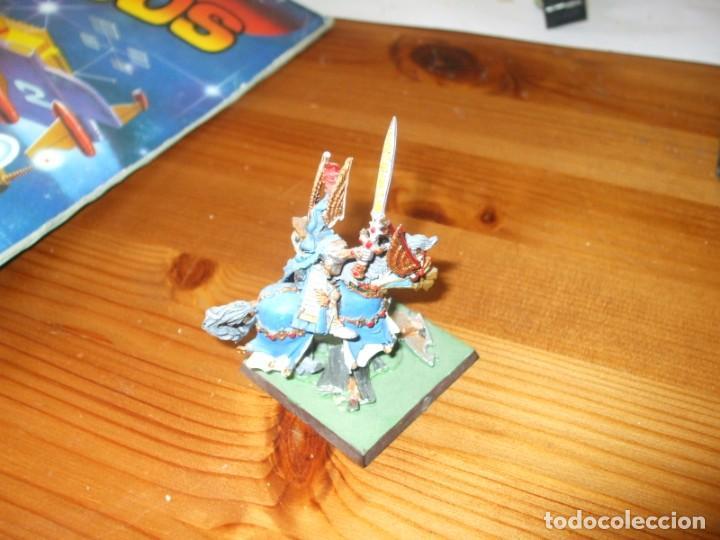 Juegos Antiguos: WARHAMMER FANTASY (OLDHAMMER): HEROE A CABALLO DE PLOMO EJERCITO ALTOS ELFOS - Foto 2 - 218243733