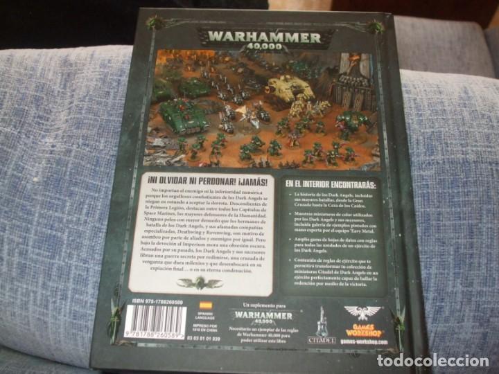 Juegos Antiguos: WARHAMMER 40K: CODEX ANGELES OSCUROS OCTAVA EDICION - Foto 2 - 218244020