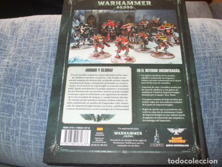 Juegos Antiguos: WARHAMMER 40K: CODEX IMPERIAL KNIGHTS OCTAVA EDICION - Foto 2 - 218244415
