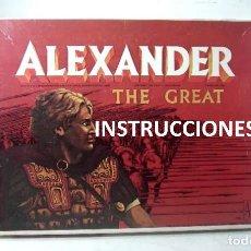 Jogos Antigos: INSTRUCCIONES DEL JUEGO EN ESPAÑOL - ALEXANDER THE GREAT-AVALON HILL 1974-GAME - WARHAMMER. Lote 218465071