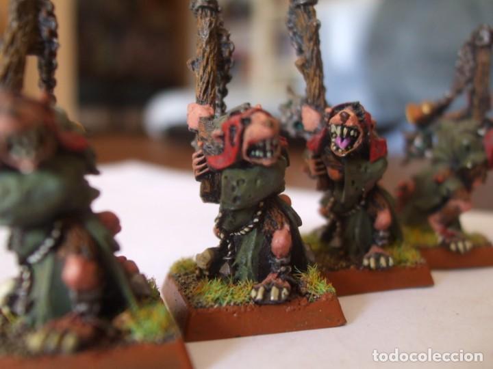 Juegos Antiguos: WARHAMMER FANTASY (OLDHAMMER): PORTADORES INCENSARIO DE PLOMO EJERCITO SKAVEN - Foto 5 - 218963357