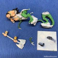 Juegos Antiguos: FIGURA WARHAMMER - OGRO DRAGON SHAGGOTH - DE PLOMO - 9CM. Lote 221611161