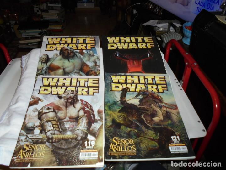 WHITE DWARF 4 REVISTAS Nº 118-119-120-121.EL SEÑOR DE LOS ANILLOS EL JUEGO DE LAS BATALLAS ESTRATEG (Juguetes - Rol y Estrategia - Warhammer)