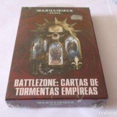 Juegos Antiguos: WARHAMMER 40K: DATACARDS BATTLEZONE EN CASTELLANO PRECINTADAS SEPTIMA EDICION. Lote 222060813