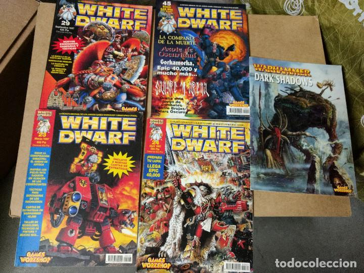 WARHAMMER LOTE 4 REVISTA WHITE DWARF GAMES WORKSHOP Nº23-24--29-45 CON REGALO DARK SHADOWS (Juguetes - Rol y Estrategia - Warhammer)