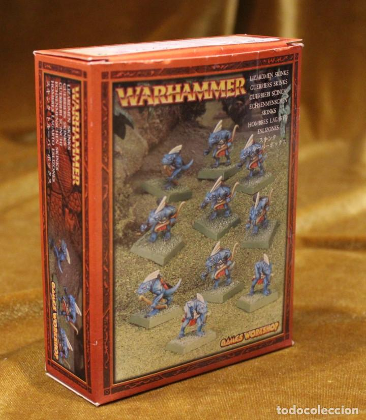 Juegos Antiguos: Caja Warhammer,Mas de cincuenta figuras de guerreros.En caja NO original. - Foto 7 - 222598795