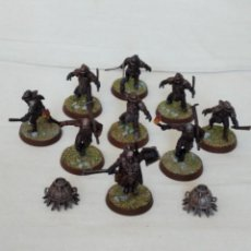 Juegos Antiguos: 28MM GAMES WORKSHOP LORD OF THE RINGS GUERREROS URUK-HAI PINTADOS LOTE 2. Lote 222665971