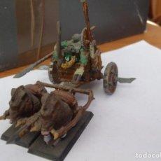 Juegos Antiguos: WARHAMMER FANTASY (OLDHAMMER): CARRO DE JABALIS EJERCITO ORCOS Y GOBLINS. Lote 224126611