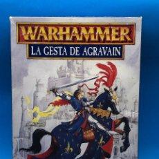 Juegos Antiguos: WARHAMMER CAMPAÑA LA GESTA DE AGRAVAIN DE BRETONIA CAJA CASTELLANO. Lote 224152390