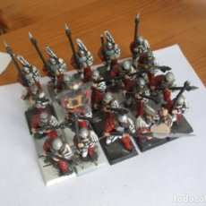 Juegos Antiguos: WARHAMMER (OLDHAMMER): 20 LANCEROS CON GRUPO MANDO EJERCITO DEL IMPERIO. Lote 224255413