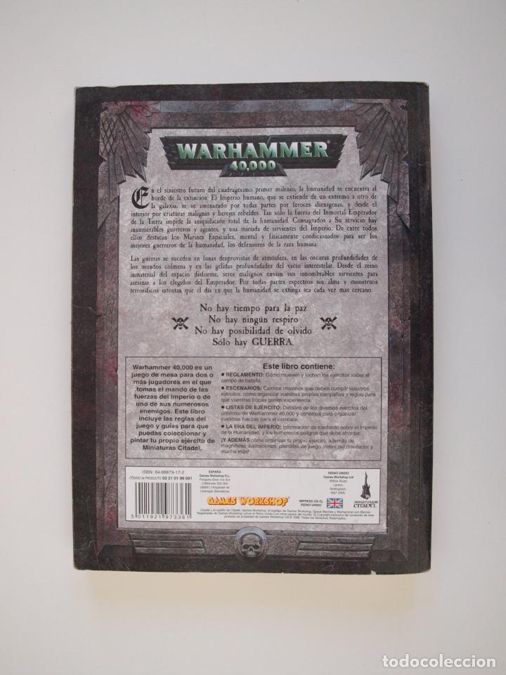 Juegos Antiguos: WARHAMMER 40,000 - REGLAMENTO - GAMES WORKSHOP - MINIATURAS CITADEL - 1998 - Foto 12 - 226254935