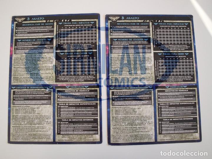 Juegos Antiguos: 2 TABLAS DE REFERENCIA RÁPIDA DE WARHAMMER 40,000 - GAMES WORKSHOP - MINIATURAS CITADEL - Foto 2 - 226259025