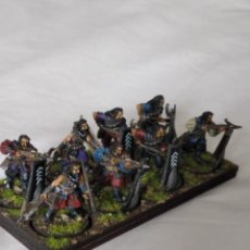 Juegos Antiguos: 28MM GAMES WORKSHOP LORD OF THE RINGS CORSAIR ARBALESTERS OF UMBARD PINTADOS EN ALTA CALIDAD. Lote 228431025