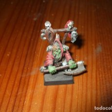 Jeux Anciens: WARHAMMER FANTASY (OLDHAMMER): JEFE GOBLIN PLOMO EJERCITO ORCOS Y GOBLINS. Lote 229842150
