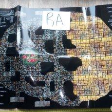 Juegos Antiguos: RA TABLERO PLEGABLE PAPEL JUEGO WARHAMMER GARRAPATOS Y TABLA MOVIMIENTOS Y ATAQUE GOBLIN. Lote 232427730