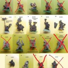 Juegos Antiguos: WARHAMMER ENANOS METAL ANTIGUOS MARAUDER CITADEL MORDHEIM 9 FIGURAS. Lote 148549698