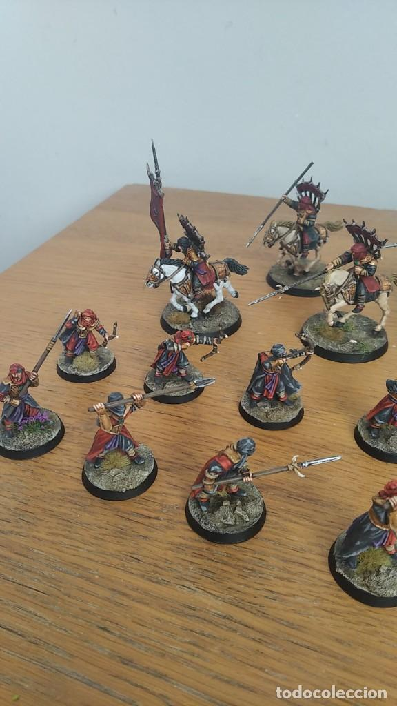 Juegos Antiguos: 28mm GAMES WORKSHOP LORD OF THE RINGS HARADRIM WARRIORS & RAIDERS PINTADOS EN ALTA CALIDAD - Foto 5 - 234628985