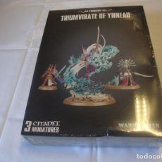 Juegos Antiguos: WARHAMMER 40000 YNNARI TRIUMVIRATE OF YNNEAD PRECINTADA. Lote 242836885