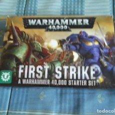 Jogos Antigos: CAJA WARHAMMER 40.000--FIRST STRIKE. Lote 245280005