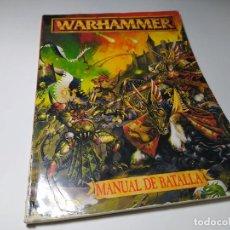 Juegos Antiguos: WARHAMMER - MANUAL DE BATALLA ( ESPAÑOL) GAMES WORKSHOP. Lote 245286370