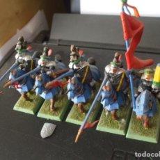 Juegos Antiguos: WARHAMMER (OLDHAMMER): 5 CABALLEROS PANTERA EJERCITO DEL IMPERIO. Lote 246532605
