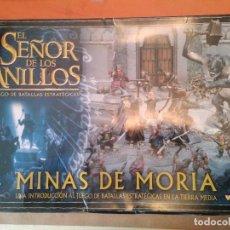 Juegos Antiguos: CAJA MINAS DE MORIA SEÑOR DE LOS ANILLOS WARHAMMER. Lote 247610505